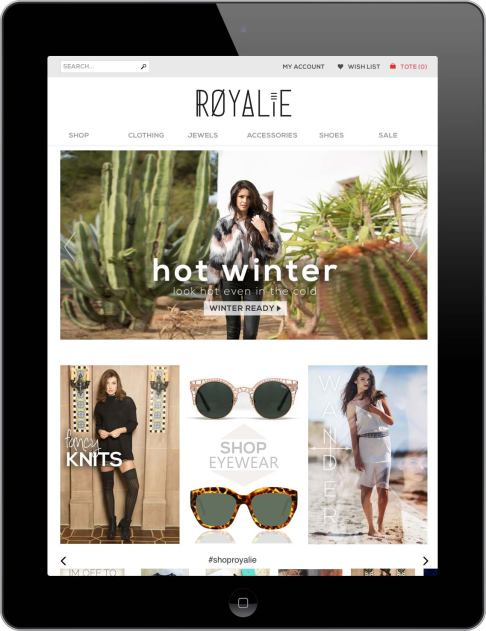 Royalie iPad Banner