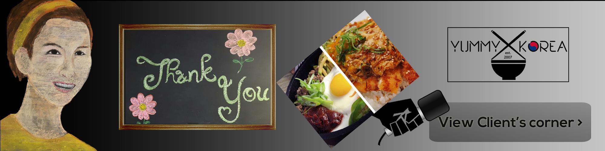 Yummy Korea Client's Corner Listing Banner